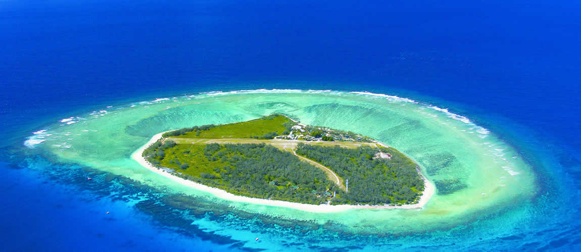 Lady Elliot Island aerial view