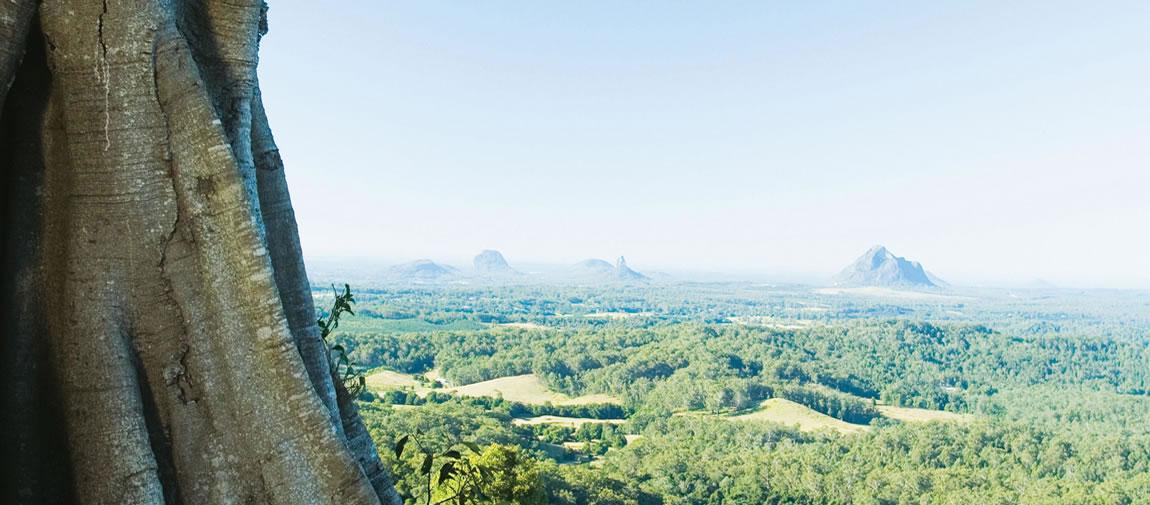 Views across the Sunshine Coast hinterland