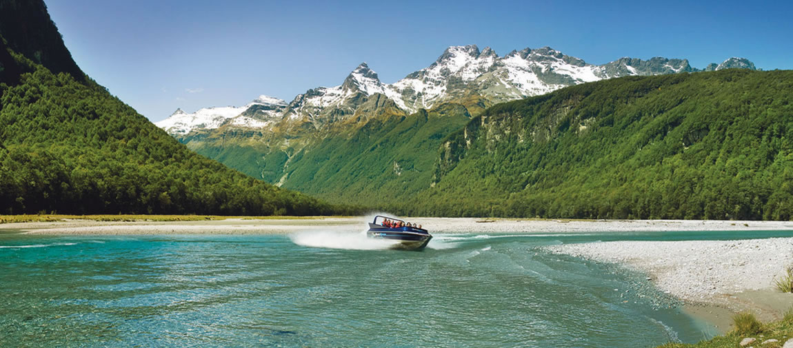 Dart River Wilderness Safari jet boat