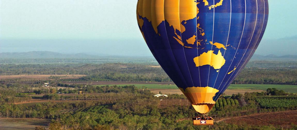 Hot air balloon over Cairns