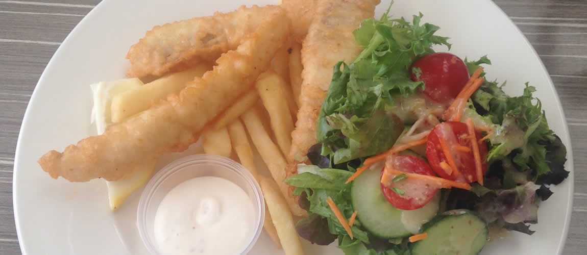Fish and chips, Currumbin Beach Vikings Surf Club