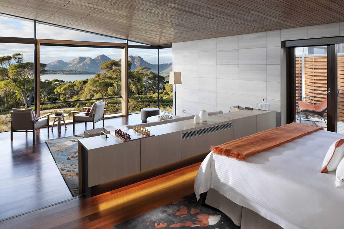 Saffire Freycinet bedroom view
