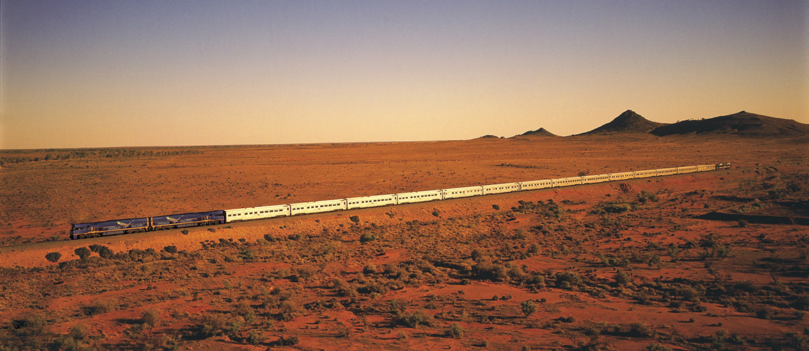 Indian Pacific on the Nullarbor Plain