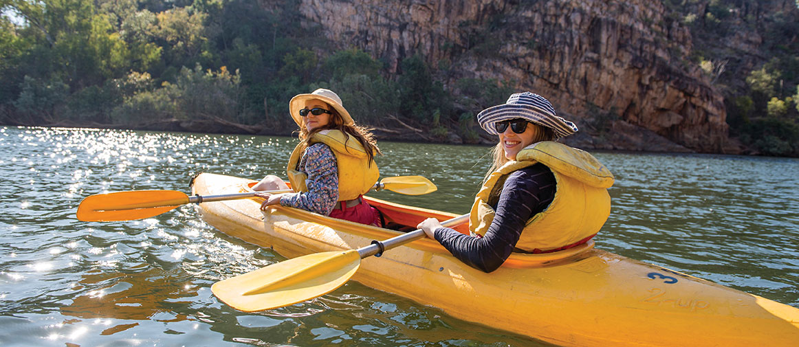Canoeing on the Katherine River
