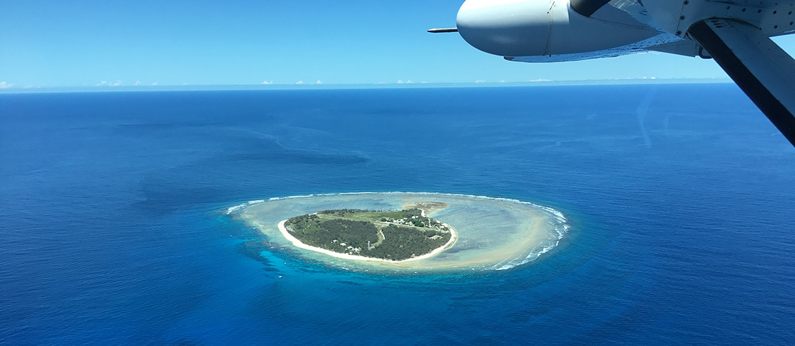 Lady Elliot Island on approach