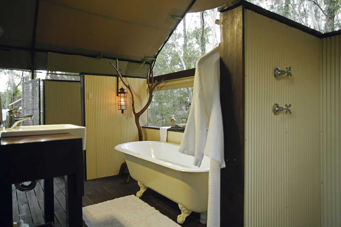 Paperbark Camp bath tub
