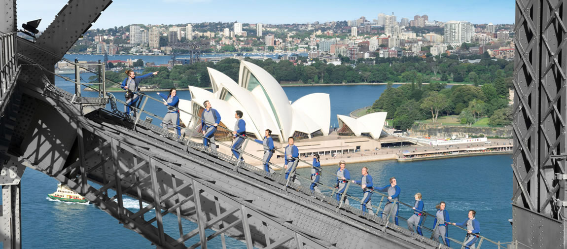 Climbing on Sydney Harbour Bridge