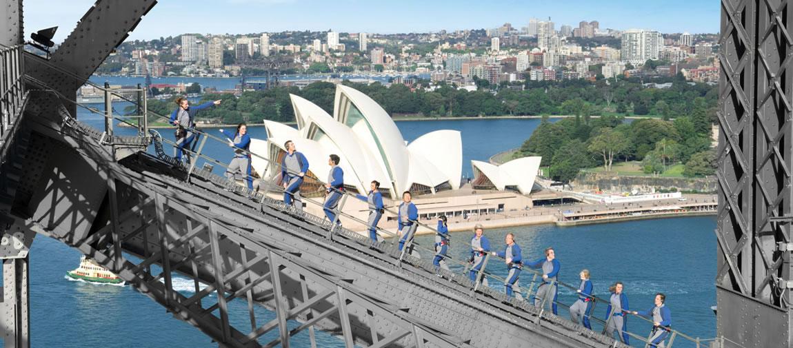 Climbing on Sydney Harbour Bridge