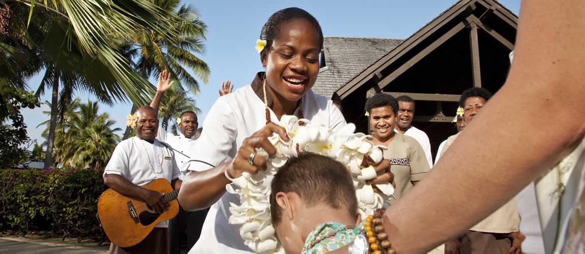 Fijian locals smiling