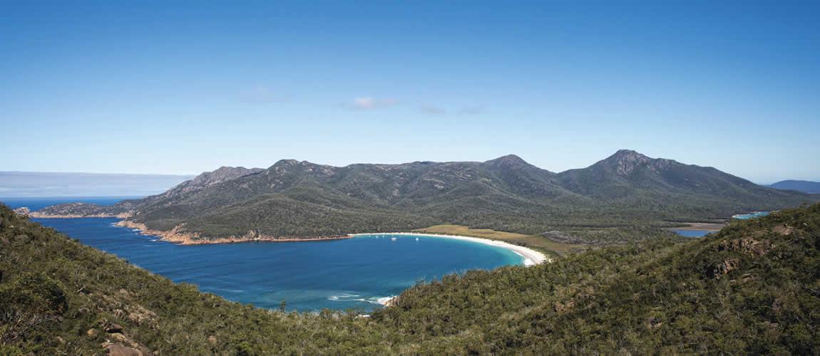Wineglass Bay in Tasmania