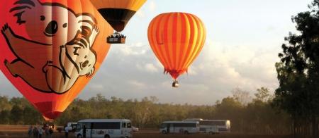 Hot air balloons in Cairns