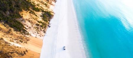 Great Beach Drive on Rainbow Beach along Queensland's Nature Coast