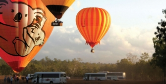 Hot air balloons in Cairns