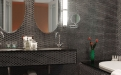 a speaker next to a sink