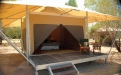 a tent on a wooden table