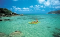 Couple kayaking around Lizard Island