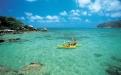 Couple kayaking around Lizard Island