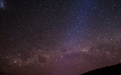 a night sky with stars