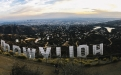 a castle on top of Hollywood Sign