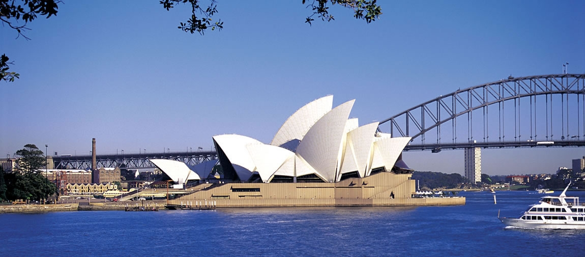 Sydney Opera House over a body of water